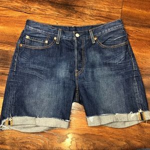 Levi's 501 Cutoff Denim Shorts 4 Button Fly Sz 30